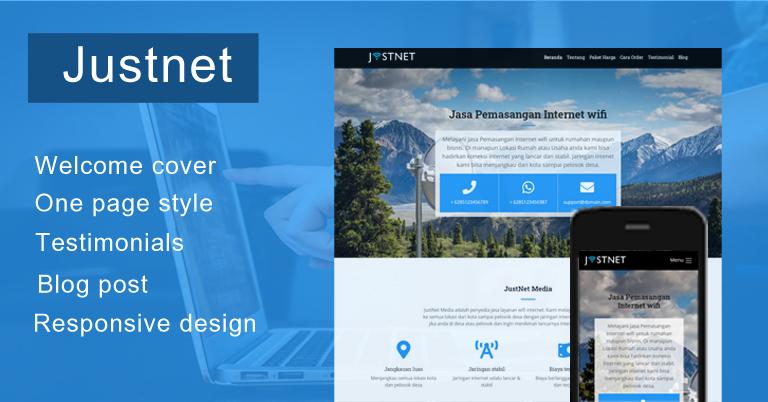 JustNet - WordPress themes untuk Jasa Internet wifi