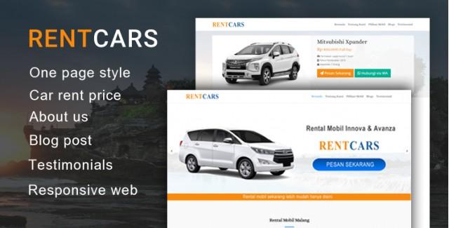 Rentcars - Wordpress Themes Rental Mobil
