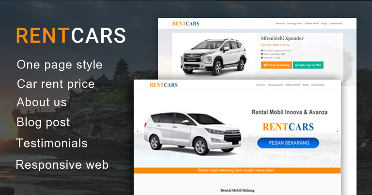 Rentcars - Wordpress Themes Rental Mobil