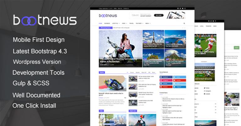 Bootnews - Wordpress Theme Untuk situs berita