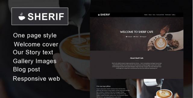 Sherif - Wordpress Themes untuk Cafe dan Warkop