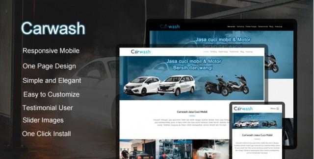 Carwash - Wordpress Themes  Jasa Cuci Mobil