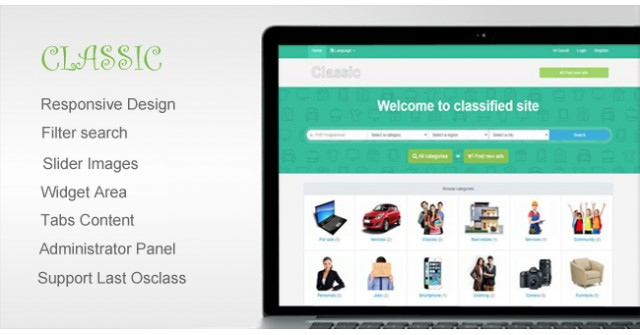 Classic – Responsive Osclass Themes