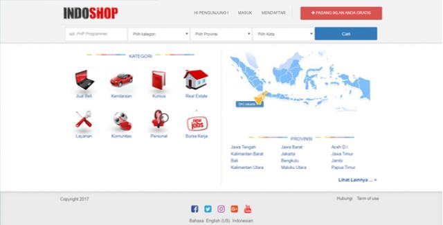 Indoshop New – Premium Osclass Themes