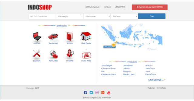 Indoshop New – Premium Osclass Themes