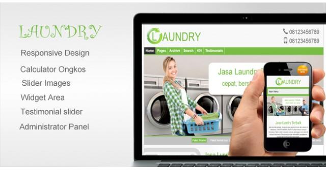 Laundry - WordPress Theme Untuk Jasa Laundry