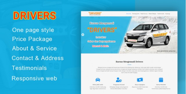 Drivers - Wordpress Themes Kursus Mengemudi