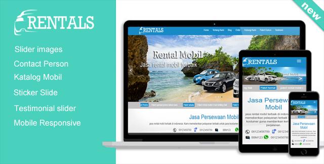 Rentals - WordPress themes untuk rental mobil