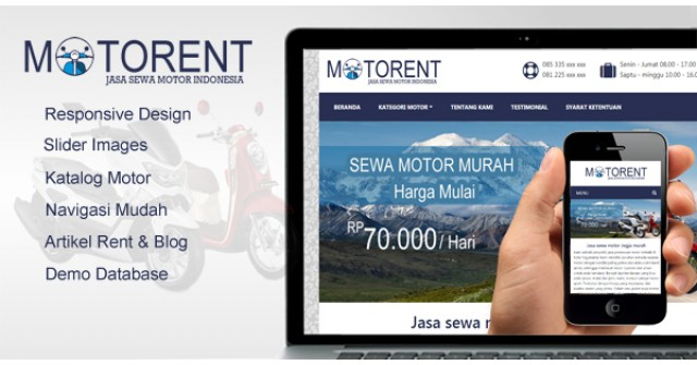 Motorent – WordPress Themes Rental Motor